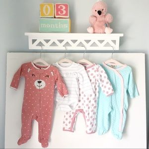 Curated Bundle of Muted Tones Baby Girl Clothes